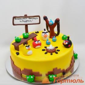 Торт птички angry birds