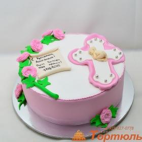 Торт на крещение малышки