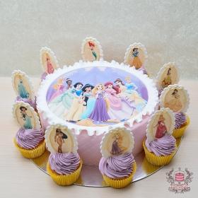 Фото-торт Принцессы Дисней