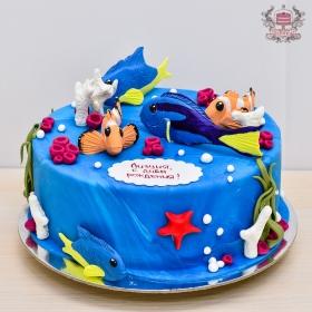Торт с рыбками