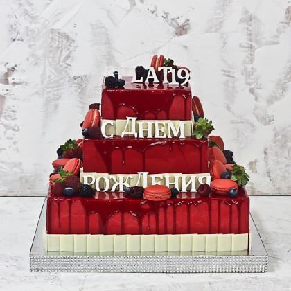 Корпоративный торт без мастики