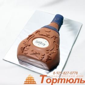 Торт Бутылка коньяка