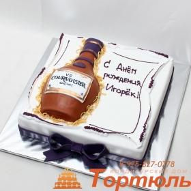 Торт бутылка Хенеси