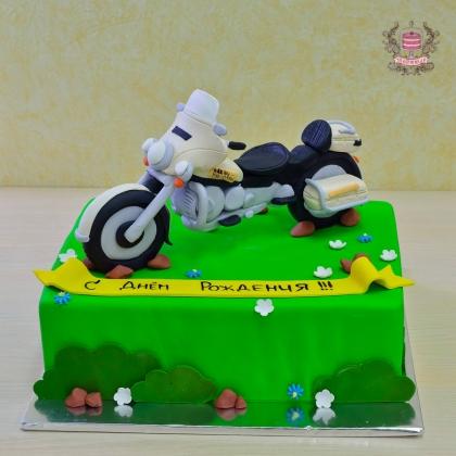 Торт с мотоциклом Harley Davidson