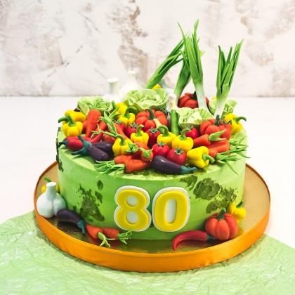 Торт с овощами