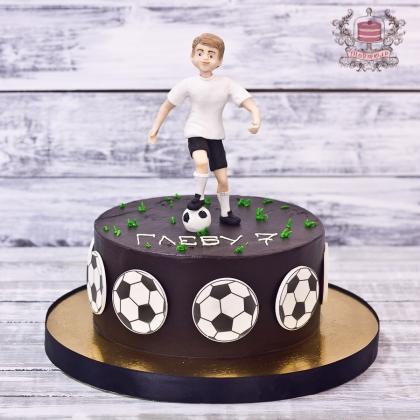 Торт для мальчика футболиста