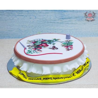 Торт для рукодельницы