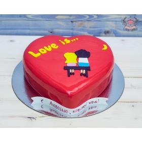 Торт сердце Love is...