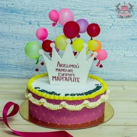 Торт с воздушными шарами
