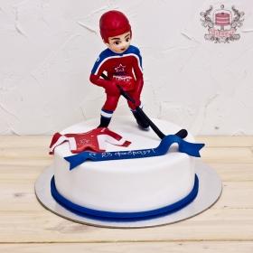 Торт хоккеисту с днем рождения