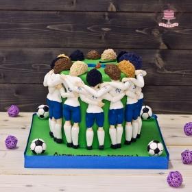 Торт для футбольную тему