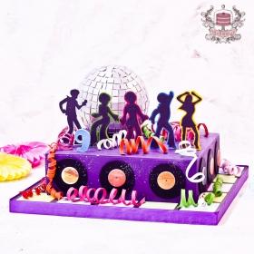 Торт в стиле диско
