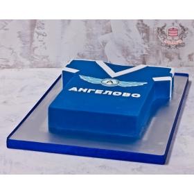 Торт футбольная форма с логотипом