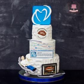 Торт для стоматологической клиники