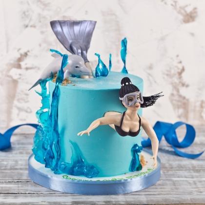 Торт с дайвером