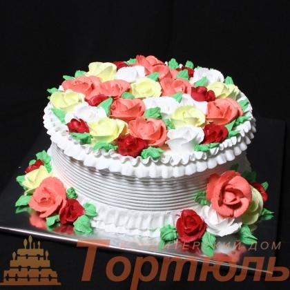 Торт Сливочные розы