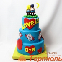 Торт свадебный LOVE IS