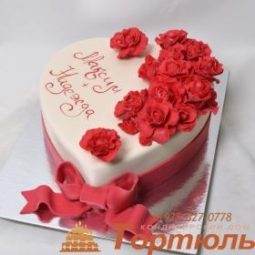 Торт свадебное сердце
