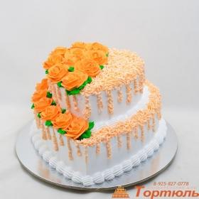 Торт свадебный сливочный