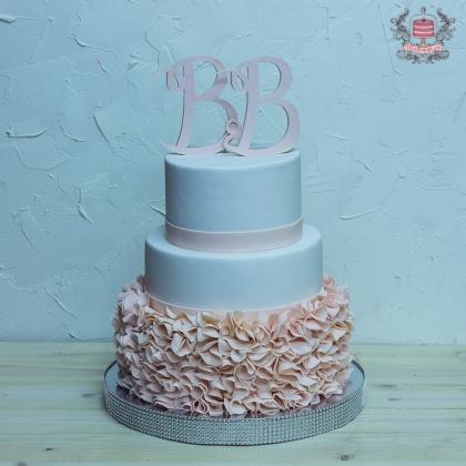 свадебный торт с именами