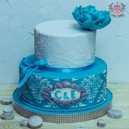 Торт на свадьбу тиффани