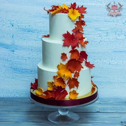 Свадебный торт без мастики тематический