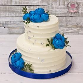 Торт свадебный без мастики