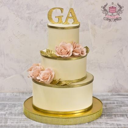 Свадебный торт без мастики Звенигород